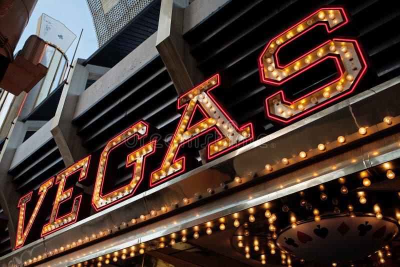 Vegas neonowy znak obraz royalty free