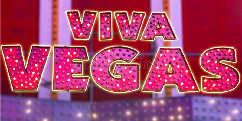 Vegas neonowy znak zdjęcie stock