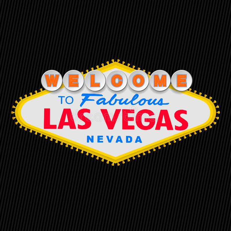 Vegas Nevada bajeczny lasów witamy Tło royalty ilustracja