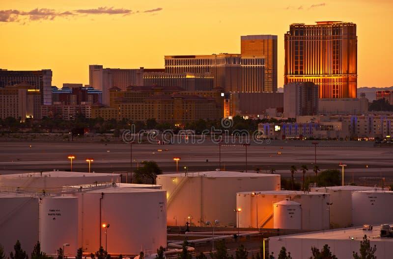 Vegas paska zmierzch obraz royalty free