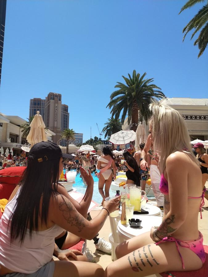 Vegas pool party royalty free stock image