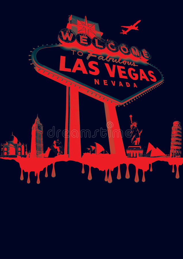 Vegas-rouge image stock
