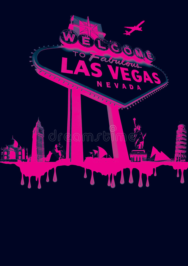 Vegas-roze vector illustratie