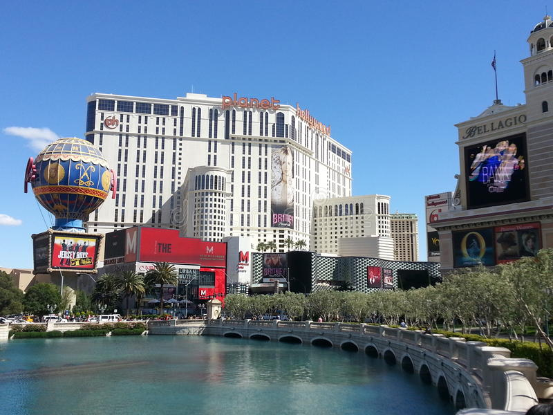 Vegas scenerii planeta Hollywood obrazy stock