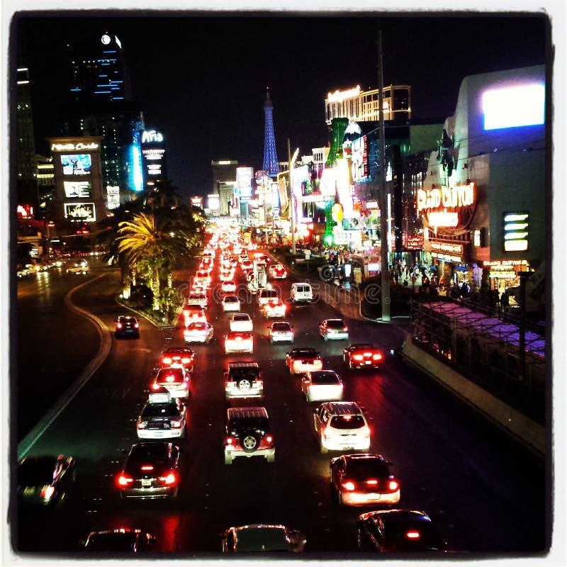 Vegas-Verkehr stockfoto