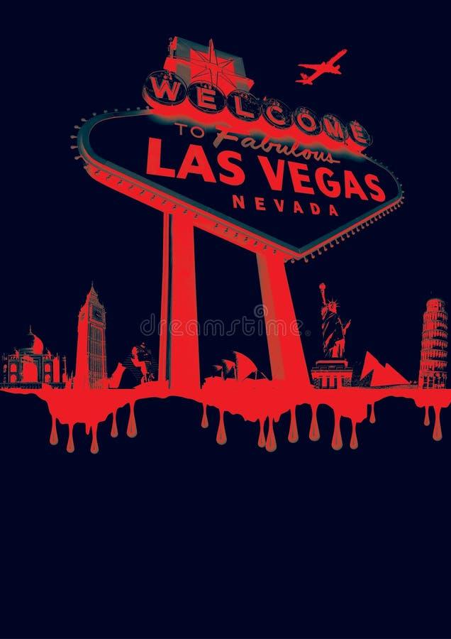 Vegas-vermelho imagem de stock