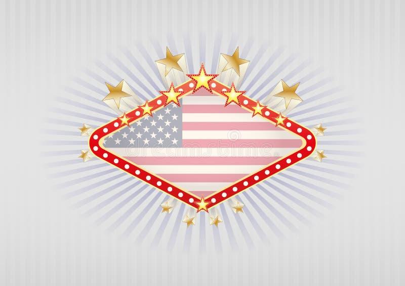 Vegasbanner van Las vector illustratie