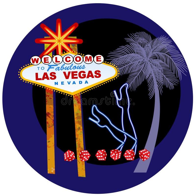 Vegasteken en dansersbenen in neon vector illustratie