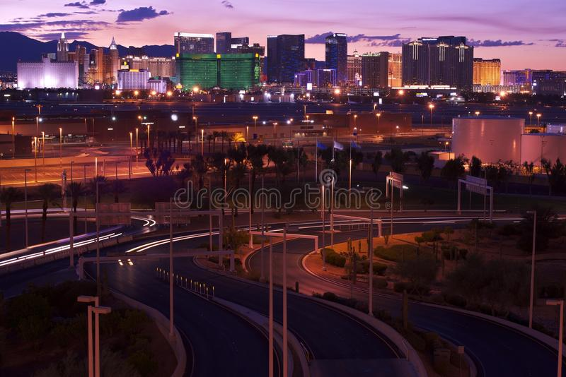 Vegasverlichting royalty-vrije stock foto's