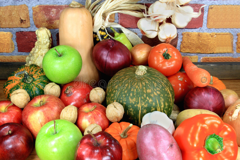 Vegatables and Fruits. stock photo