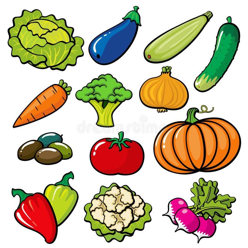 Vegatables heldere reeks voor druk, ambacht, vegatable de Herfst royalty-vrije stock foto