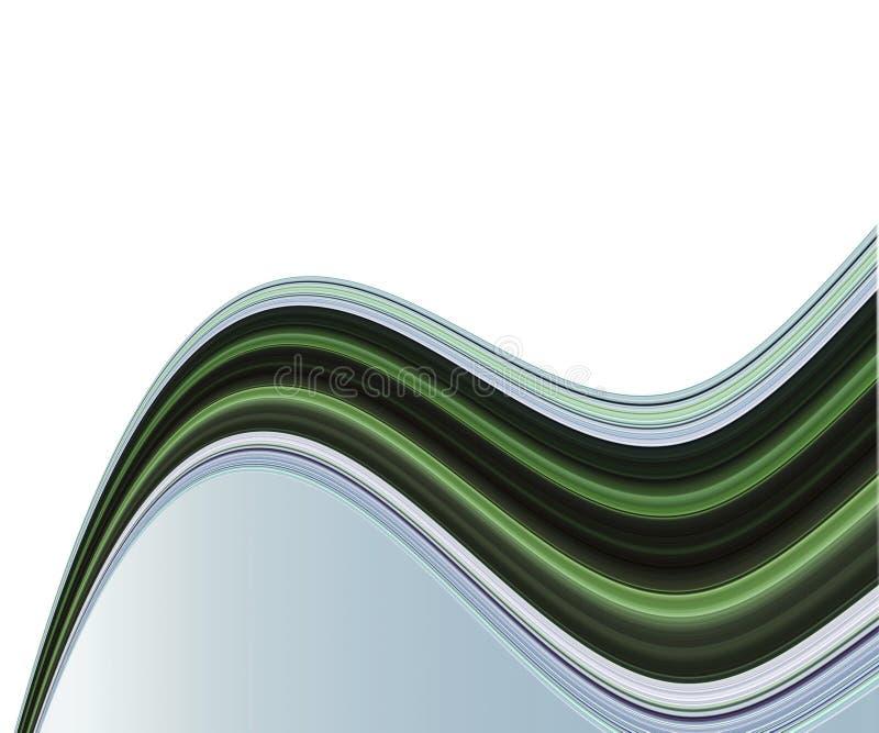 Vegende lijnen op wit stock illustratie