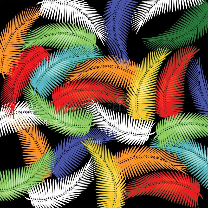 Vegetação tropical colorida ilustração stock