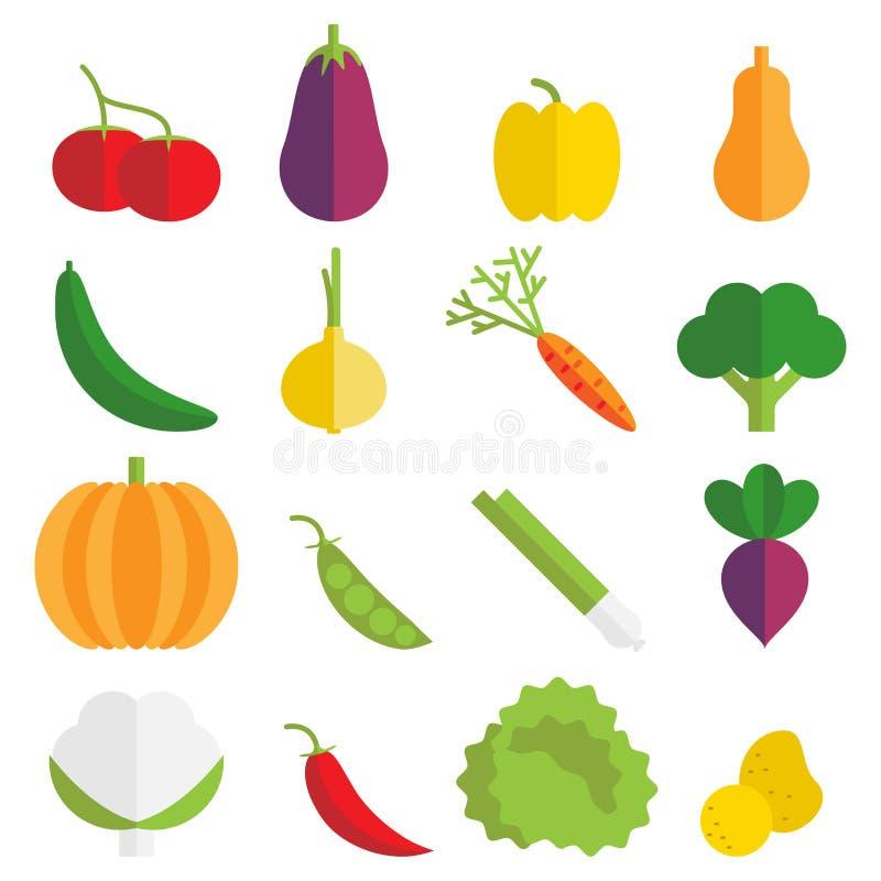 Vegetable значки иллюстрация вектора