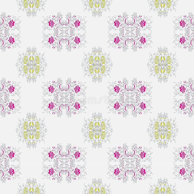 Vegetable картина с изображением пинка и известки цветков цветет на свет-серой предпосылке иллюстрация вектора