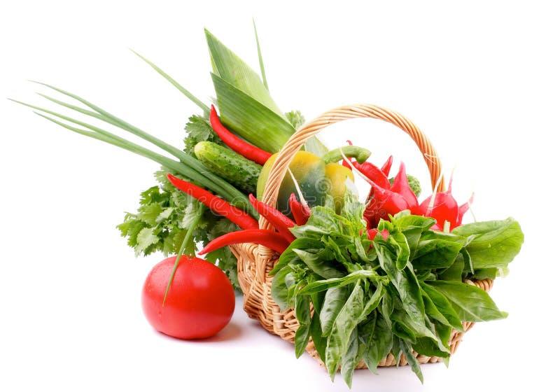 Vegetable корзина стоковые изображения