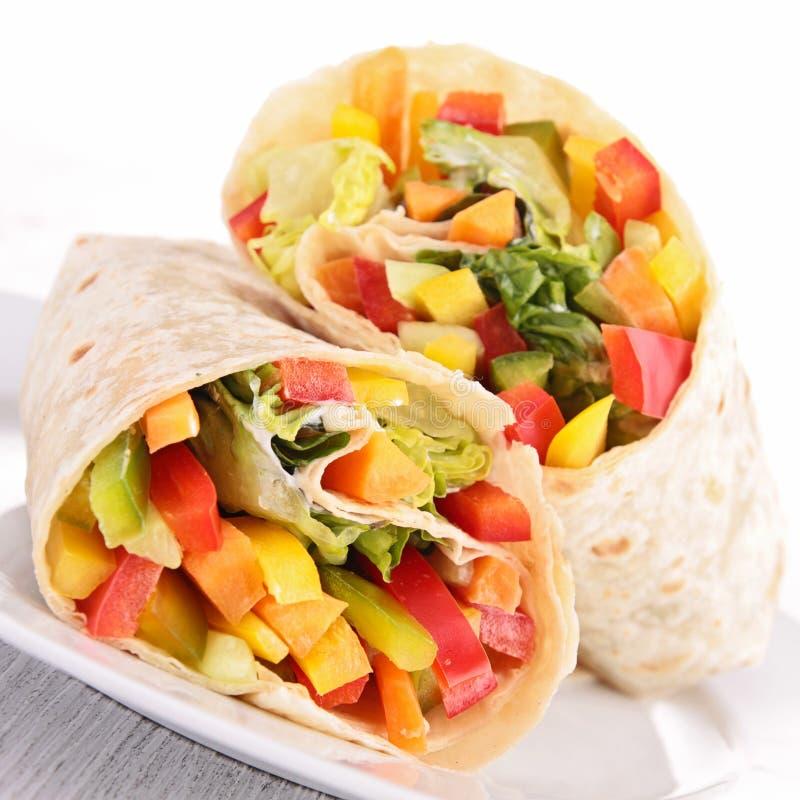 Vegetable обруч сандвича стоковое изображение