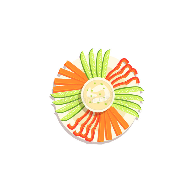 Vegetable ручки и символа рождества Hummus иллюстрация классического красочная иллюстрация штока