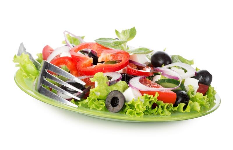 Vegetable салат изолированный на белизне стоковая фотография