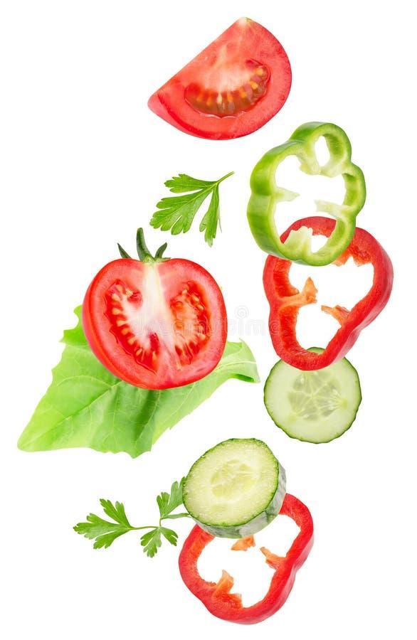 Vegetable смешивание изолированное на белой предпосылке стоковое фото