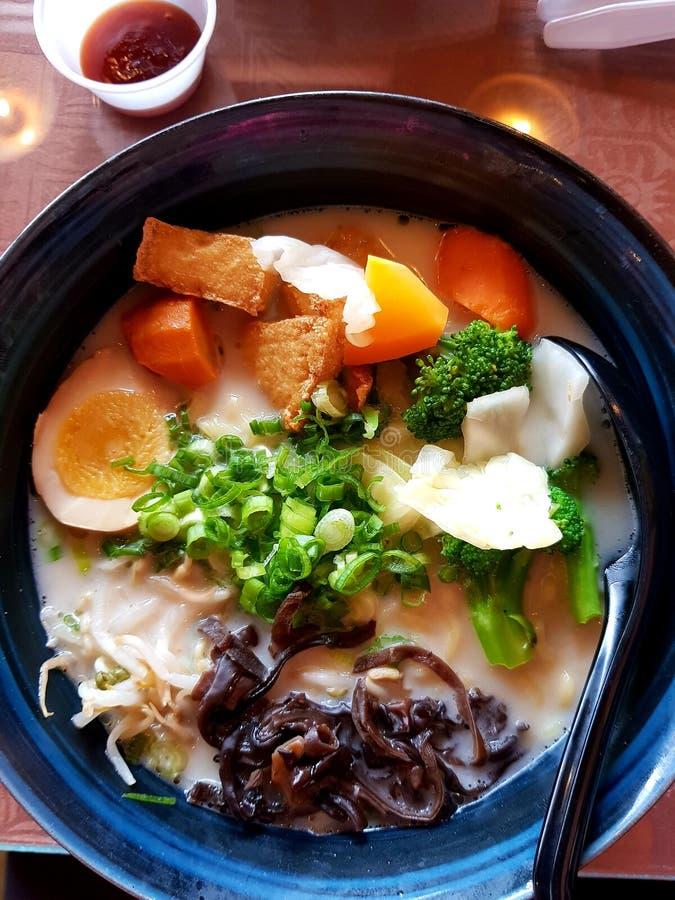 Vegetable суп рамэнов стоковые изображения