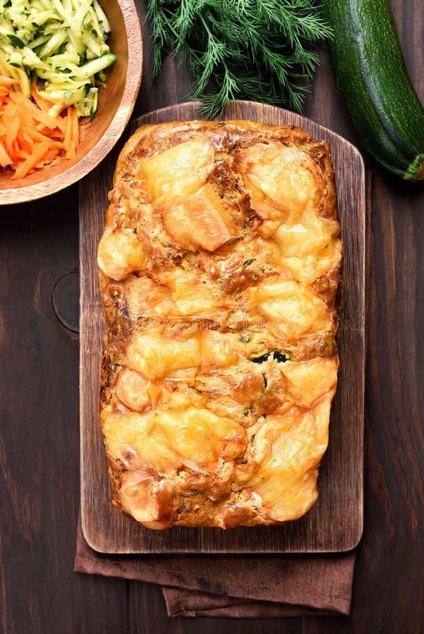 Vegetable хлеб от цукини и моркови стоковые изображения