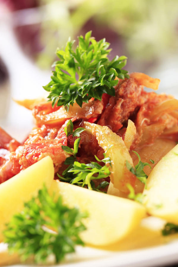 Free Vegetable And Sausage Stir-fry And Potatoes Stock Images - 20531364