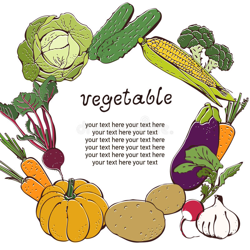 Download Vegetable Background With Text Frame Stock Vector - Illustration of green, beetroot: 26283589