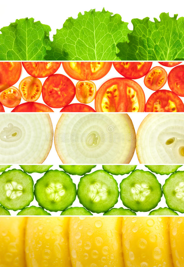 Free Vegetable Banners Collection / Set Of 6 Different Mackro Backgrounds Royalty Free Stock Photography - 29366427
