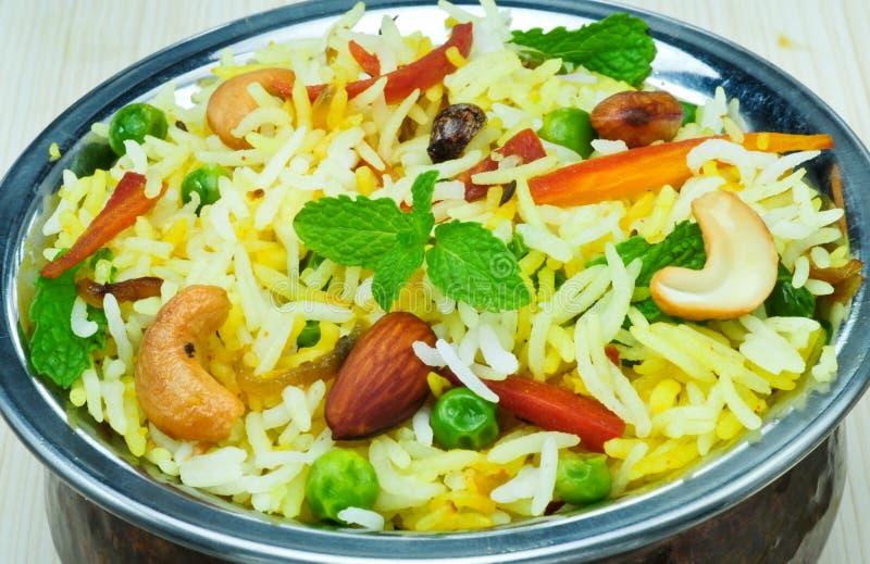 Vegetable Biryani stock image