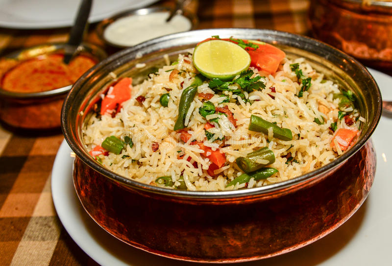 Vegetable Biryani royalty free stock image