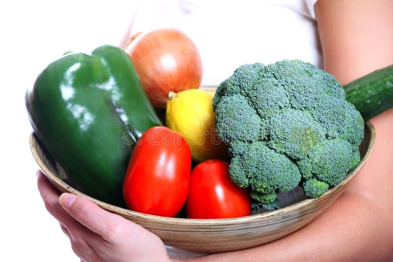 Vegetable bowl royalty free stock photos