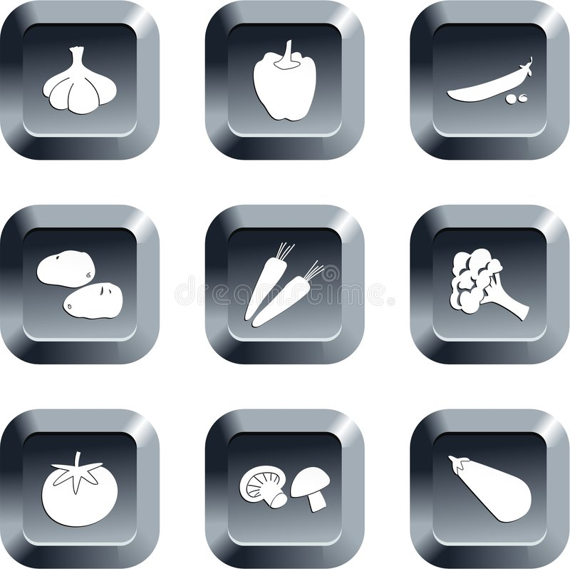Vegetable buttons royalty free illustration