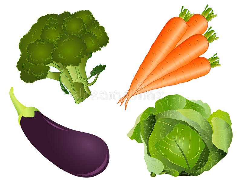 Vegetable Clipart Set stock image. Illustration of carrots ...