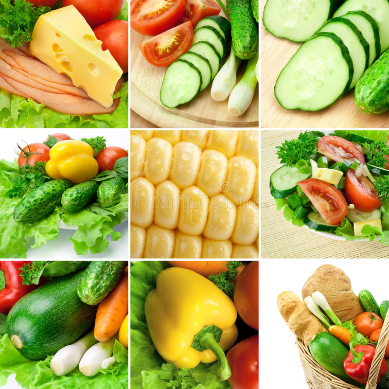 Download Vegetable collage stock photo. Image of ingredient, group - 20392806