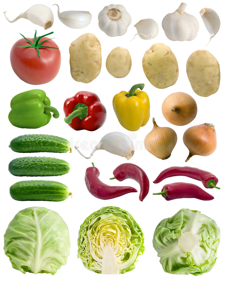 Vegetable collection stock images