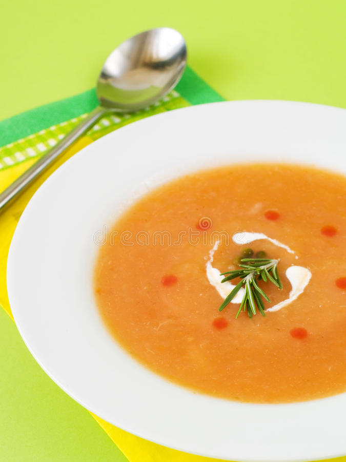 Download Vegetable cream soup stock image. Image of soup, eating - 13198463