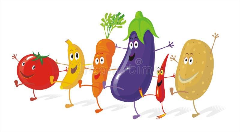 Vegetable Dancers stock illustration