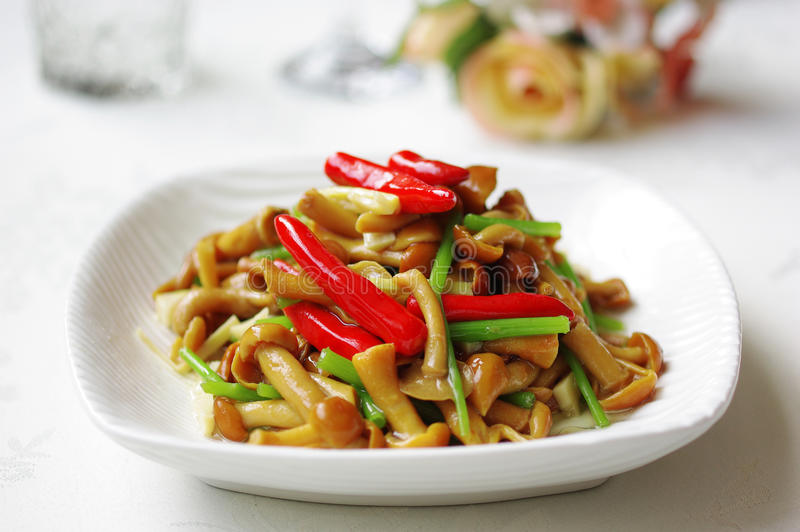 Vegetable dish. Chinese food in a restaurant royalty free stock photography