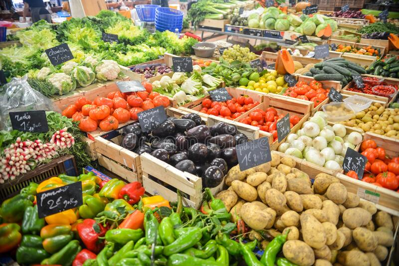 Vegetable Display royalty free stock images