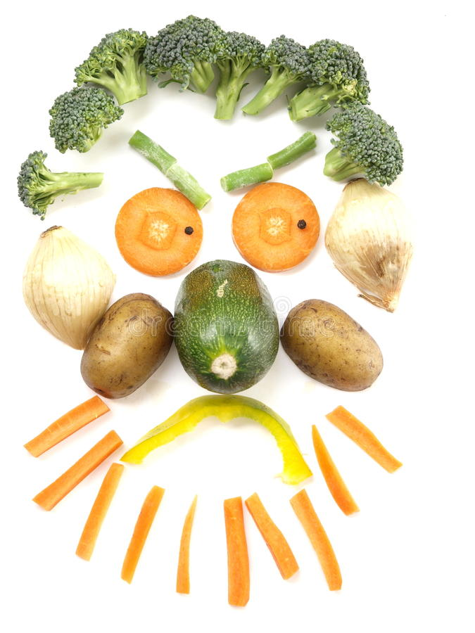 Vegetable Face. A funny but angry vegetable face royalty free stock photography
