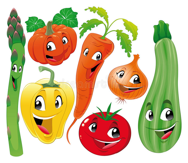 Download Vegetable family. stock vector. Illustration of head - 15588412