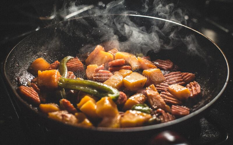 Vegetable Food Cooked On Frying Pan Free Public Domain Cc0 Image