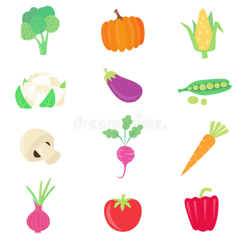 Free Vegetable Food Set Stock Images - 13292584