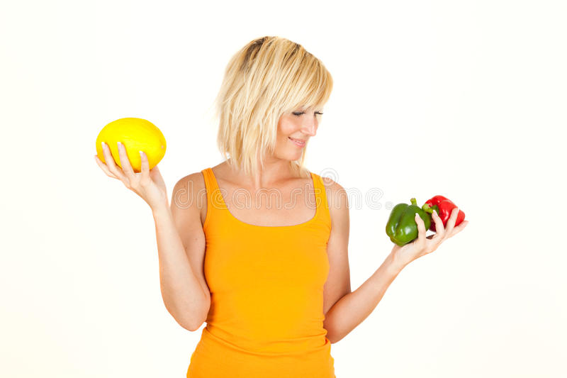 Download Vegetable girl stock photo. Image of beautiful, color - 9605606
