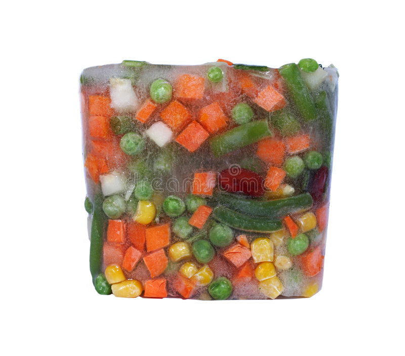 Vegetable in ice stock photos