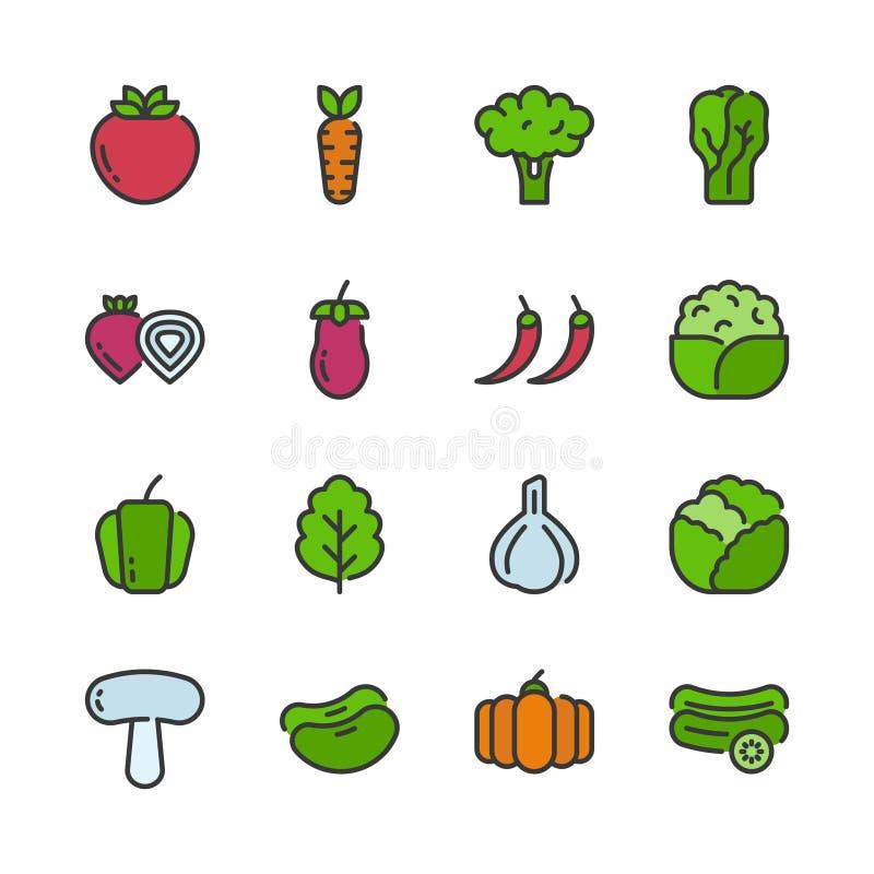 Vegetable icon set.Vector illustration vector illustration
