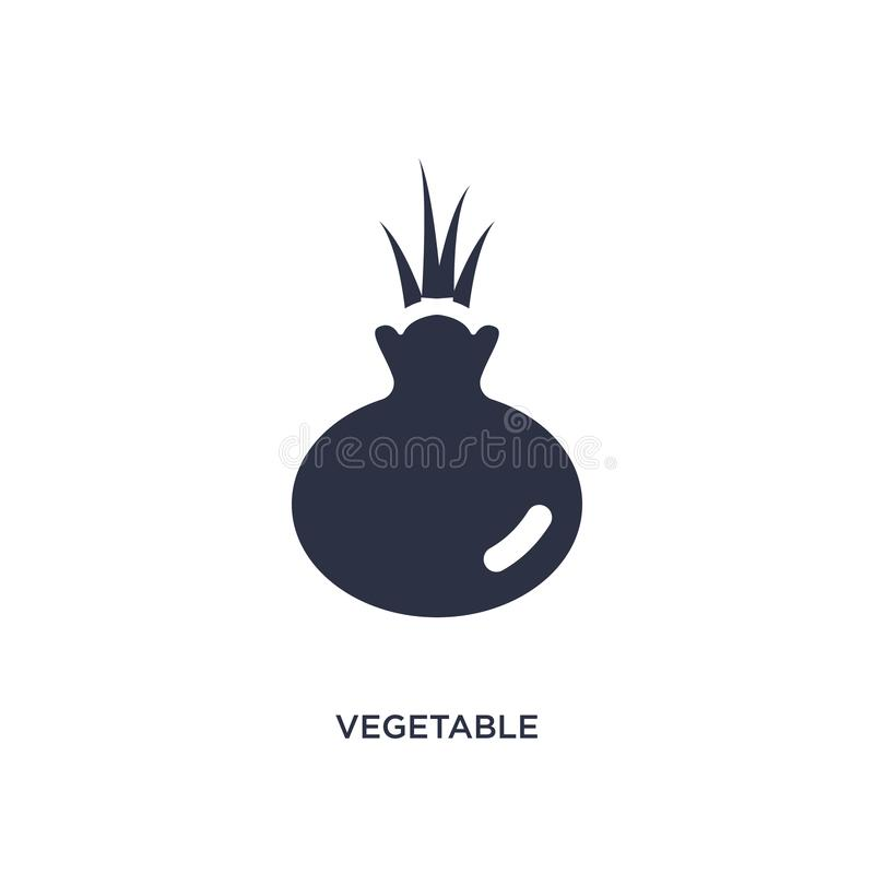 Vegetable icon on white background. Simple element illustration from farming concept. Vegetable icon. Simple element illustration from farming concept. vegetable stock illustration