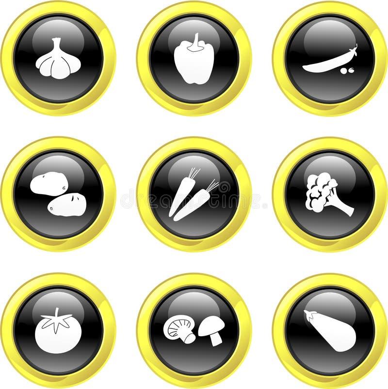 Vegetable icons stock illustration