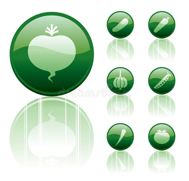 Download Vegetable icons stock vector. Image of agriculture, beet - 6011566